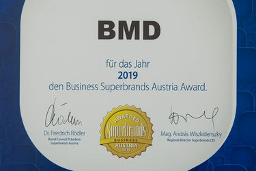 Business Superbrands Zertifikat erstmals an Softwarehaus verliehen