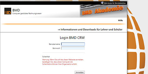 BMD Cloud Login [Foto © BMD]