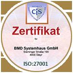 Sicherheitszertifikat ISO 27001
