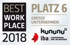 Best Work Place - Platz 6 - Kununu