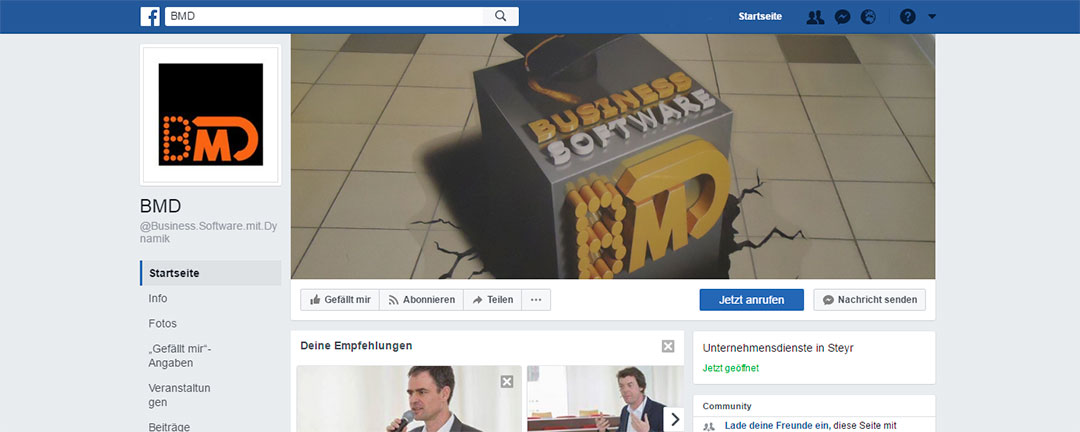 BMD goes Facebook - BMD ab sofort im Social Network