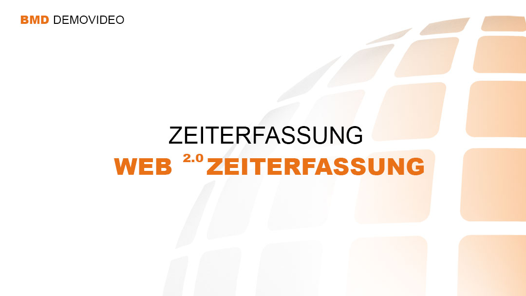 Demovideo BMD Web2.0 Zeiterfassung