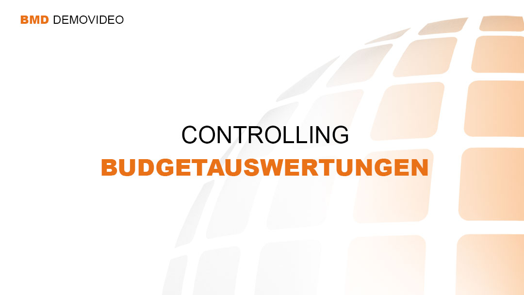 Demovideo Controlling - Budgetauswertungen