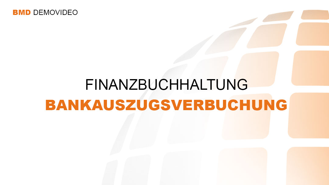 Demovideo Bankauszugsverbuchung