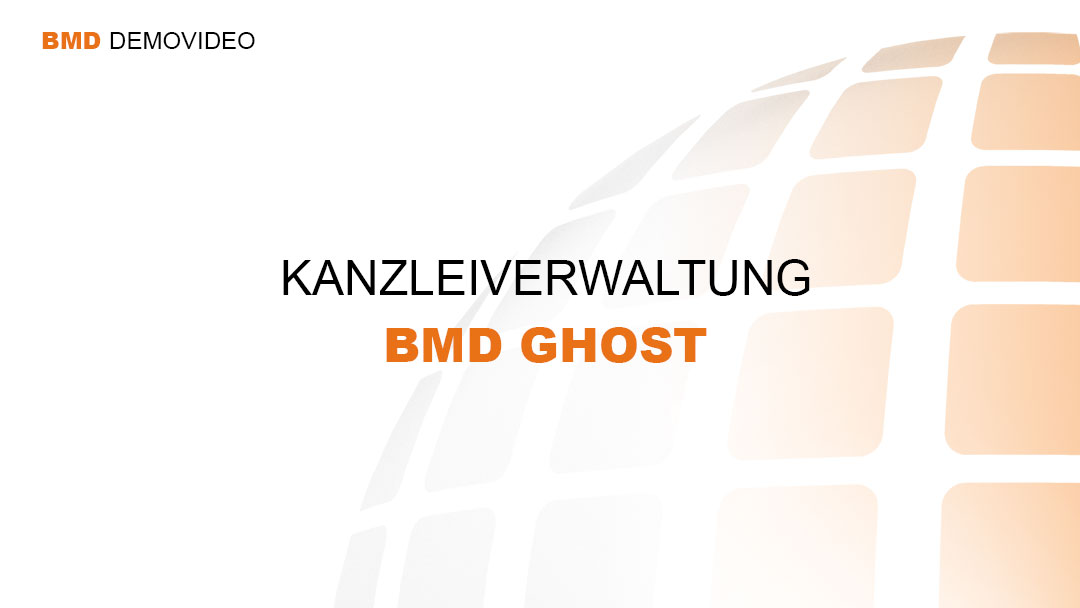 Demovideo Kanzleiverwaltung - BMD Ghost
