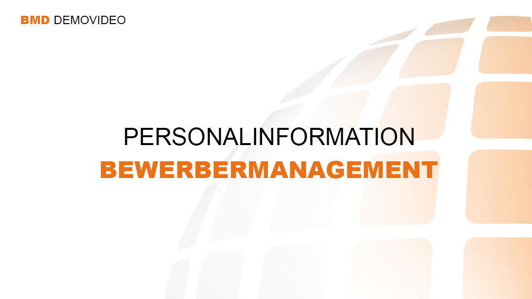 Demovideo Personalinformation - Bewerbermanagement